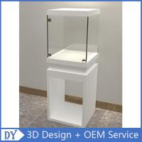 Buy cheap Wholesale good quality wooden square matte white perspex display stands with fully locks lights from wholesalers