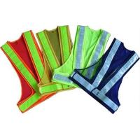 Buy cheap 100% Polyester Fabric Reflective Safety Vests With Zipper EN20471 & CE Standard from wholesalers