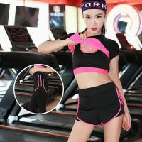 Buy cheap Women Yoga Fitness Sports Sets Gym Workout Sportswear 3pcs/Set Tracksuits Yoga Pants Sport Leggings Suits from wholesalers