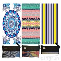 Buy cheap Quick Drying Lightweight Fast Dry Oversized Printed Microfiber Beach Towel from wholesalers