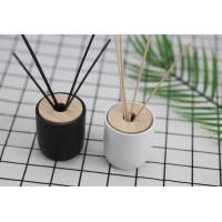 Buy cheap Simple Style Home Reed Diffuser Matte Painting Round Glass Bottle With Oem Service from wholesalers