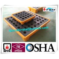 Buy cheap 4 Drum / 2 Drum Spill Containment Pallet With Drain For Oil Drum from wholesalers
