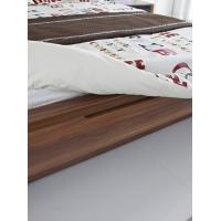 Buy cheap Cheap FSC Certificated Good quality Upholstery headboard bed with wood storage from wholesalers