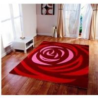 Buy cheap Romantic Rose Design Handtufted Handmade Acrylic Carpet  Red and Pink color area rug flower floring rug from wholesalers