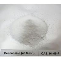 Buy cheap CAS 94-09-7 Local Anesthetic Raw Powder Benzocaine / Ethyl 4-Aminobenzoate 40 Mesh For Pain Relive from wholesalers