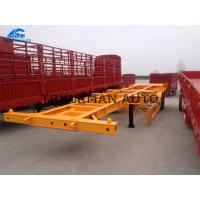 Buy cheap 3 Axles 40 Tons Skeletal Container Trailer , Semi Trailer Storage Containers 40 Feet from wholesalers