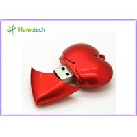 Buy cheap Plastic Red Heart USB Flash Memory USB Device Full Capacity 1GB / 2GB / 4GB product