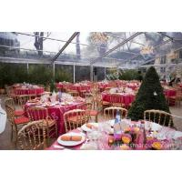 Buy cheap Large Square Clear Top Tent with transparent roof for Party and Event from wholesalers
