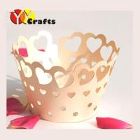Buy cheap Heart to heart  Wedding Cupcake Liners party tea favors 5X8.5X5 cm from wholesalers