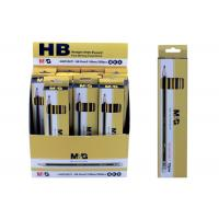 Buy cheap Fashion Black Wooden Pencils With Soft Eraser And Pre - Sharpened End from wholesalers