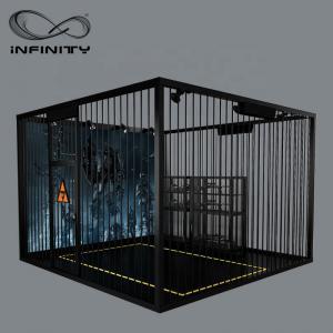 Buy cheap Black Color VR Gaming Platform 9D VR Simulator Four People 12 Month Warranty product