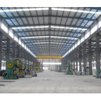 Buy cheap Profesional good quality prefab light weight low cost steel structure frame steel workshop with crane from wholesalers