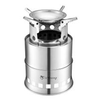 Buy cheap Stainless Steel Wood Burning Camping Stove With 4 Flexible Non Slip Arm from wholesalers