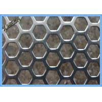 Buy cheap Anodizing Hexagonal Perforated Aluminum Sheet / Screen 1.5mm Thickness from wholesalers