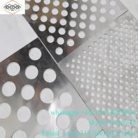 Buy cheap 1mm round hole aluminum powder coating perforated metal panel from wholesalers