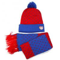 Buy cheap Kids Winter Hat with Scarf  Custom made Knit Youth winter Hats Wholesale from wholesalers