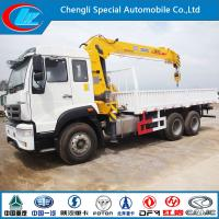 Buy cheap HOWO 6X4 Lorry Truck with 6.3 Truck Crane from wholesalers
