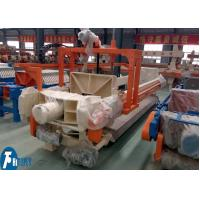 Buy cheap 100m2 Industrial Filter Press Fully Automatic Controlled With Filter Cloths Washing Device from wholesalers