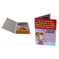 Buy cheap Voice recording 4C full color 250gsm coated paper Christmas Greetings Card Printers from wholesalers