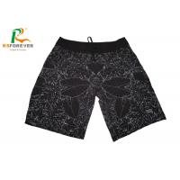 Buy cheap Sublimated Black Beach Men Board Shorts With Side Pocket  Leaf Pattern from wholesalers