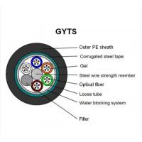Buy cheap GYTS 12 Core Multi Strand Fiber Optic Cable MDPE Or HDPE Outer Sheath from wholesalers