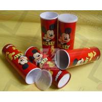 Buy cheap Cardboard Pen Gift Boxes Paper Cylinder Box Micky Mouse Carton Pattern from wholesalers