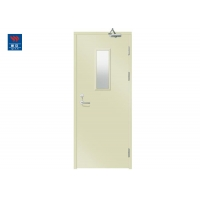 Buy cheap Galvanized Steel Fire Rated Doors 1000*2100*100mm With 6mm Glass from wholesalers