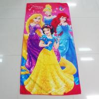 Buy cheap Colorful Solid Print Microfiber Beach Towels , Kids Bath Towels Overlock Edge from wholesalers