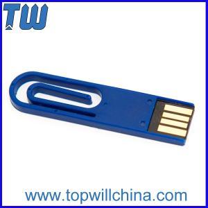 Plastic Coloful Paper Clip Usb Flash Drive Delicate Design for Gifts