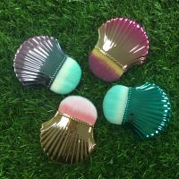 Buy cheap Portable Shell Shape Makeup Foundation Brush Plastic Handle Material from wholesalers