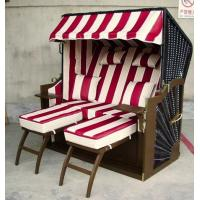 Buy cheap Contemporary Wood And Rattan Roofed Beach Chair & Strandkorb For Hotel from wholesalers