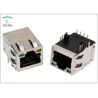 Buy cheap R / A Tab Up 8P8C Modular Connector With 10 / 100 Base - T Integrated Magnetics product