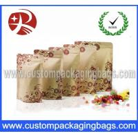 Buy cheap Customized Printing Plastic Kraft Paper Food Packaging Bag With Zipper from wholesalers