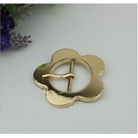 Buy cheap Design simple 32 mm light gold large flower belt buckle pin buckle bag cover head decoration for clothing hardware from wholesalers