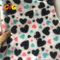 Buy cheap 100% Polyester Heart Printed Coral Fleece for Blanket Bed Sheet Home Textile from wholesalers