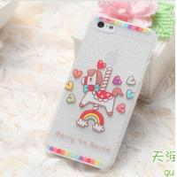 Buy cheap Colorful Carton Horse Leather Skin On Phone Back Case Cover Plastic Case from wholesalers