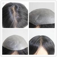 Buy cheap Factory Price Indian Human Hair Super Thin Skin V-looped Toupee For Men from wholesalers