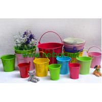 Buy cheap colored metal pail decorative buckets from wholesalers