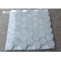 Buy cheap Hexagon Carrara Natural Stone Mosaic Tile Sheets For Walls And Floors Decor from wholesalers