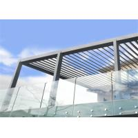 Buy cheap Wall mount standoff for exterior glass balcony grill design stainless steel balustrade from wholesalers