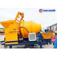 Buy cheap Mobile Concrete Mixer Machine With Pump , Electric Power 30m3/H Cement Mixer And Pump from wholesalers