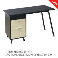 Buy cheap 2017 Colombia Popular Wooden and Glass Computer Table with Drawers RX-D1174 from wholesalers