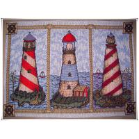 Buy cheap 48x70cm lighthouse very nice designs decorative rubber floor anti slip mat from wholesalers