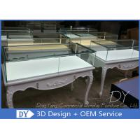Buy cheap Free 3D Design Service Wood Glass Jewelry Display Showcase With Lock from wholesalers