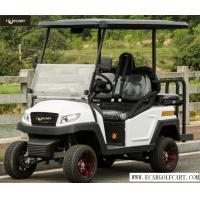 Outdoor Luxury 4 Person Golf Cart With Polymer Plastic Body , Rear Drum Brake