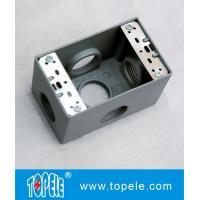 Buy cheap Weatherproof Electrical Boxes 3 Holes / 5 Holes Single Gang Outlet Boxes Die Cast Metal from wholesalers