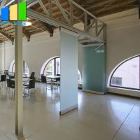 Buy cheap Movable partition walls glass wall office sliding frameless glass folding door from wholesalers