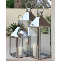 China Modern decorative Metal hanging Stainless Steel Lanterns For hotel on sale