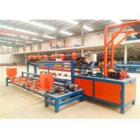 Buy cheap Double Wire Feed Chain Link Weaving Machine , Diamond Mesh Fencing Machine from wholesalers