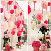 Buy cheap paper pom pom/Paper Flower for party Decorate from wholesalers